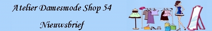 nieuwsbrief damesmode shop54