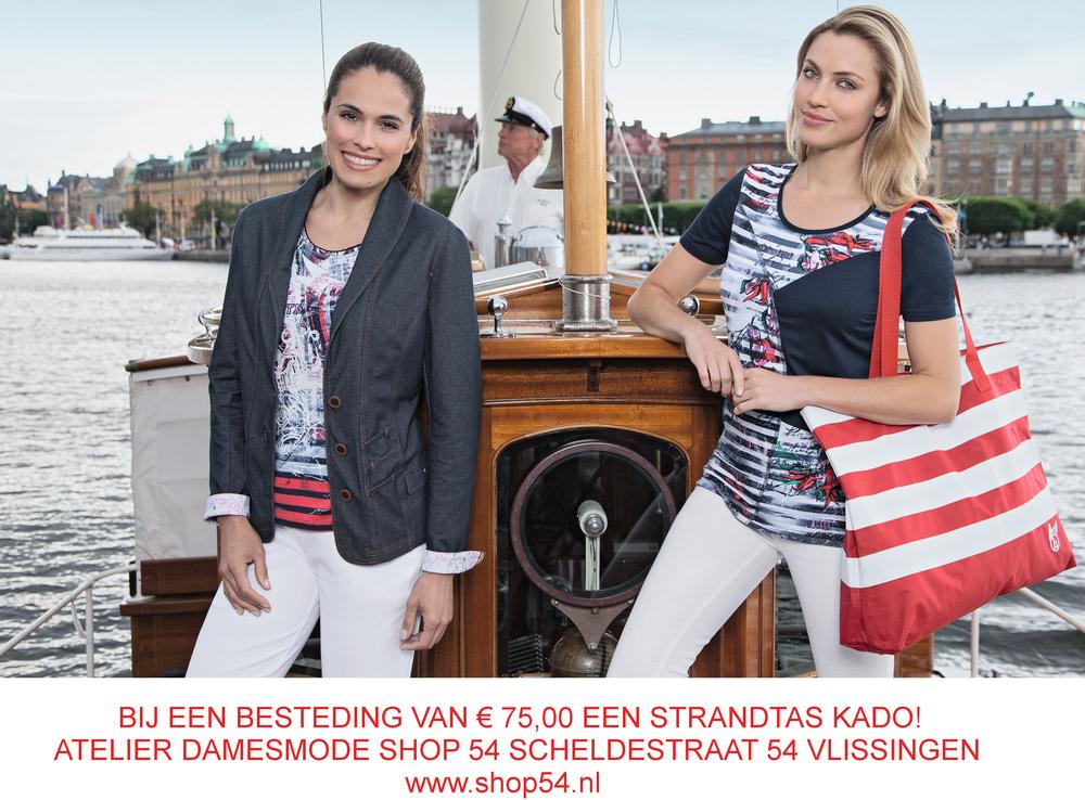 SHOP NU VOOR € 75,00 en krijg een strandtas kado!Zolang de voorraad strekt,in de kleuren: rood-wit,marine-wit,groen-wit,geel-wit.